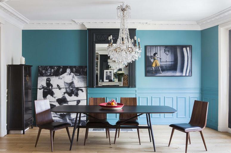 Mid-Century Parisian Apartment With Bold Splashes - DigsDi
