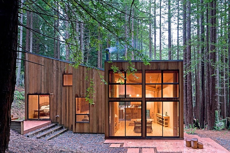Sea Ranch Cabin by Frank / Architects   HomeAdo