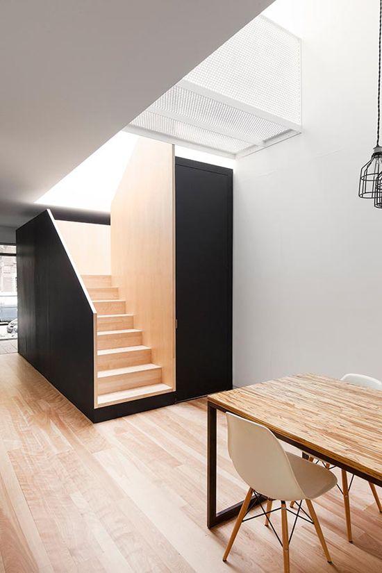 Minimal Black And White Kitchen With A White Brick Wall   Haus .
