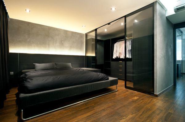 60 Stylish Bachelor Pad Bedroom Ideas | Black bedroom decor .