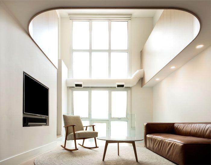 StudioAC Converted Toronto Church into a Minimalist Loft Home .