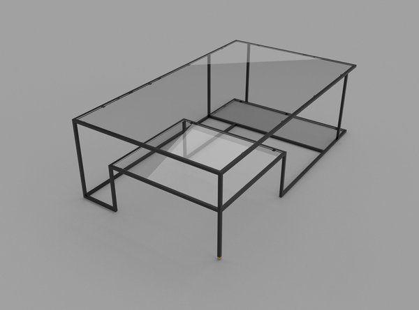 Minimalist Coffee Table Showcasing an Original Geometry: Right .