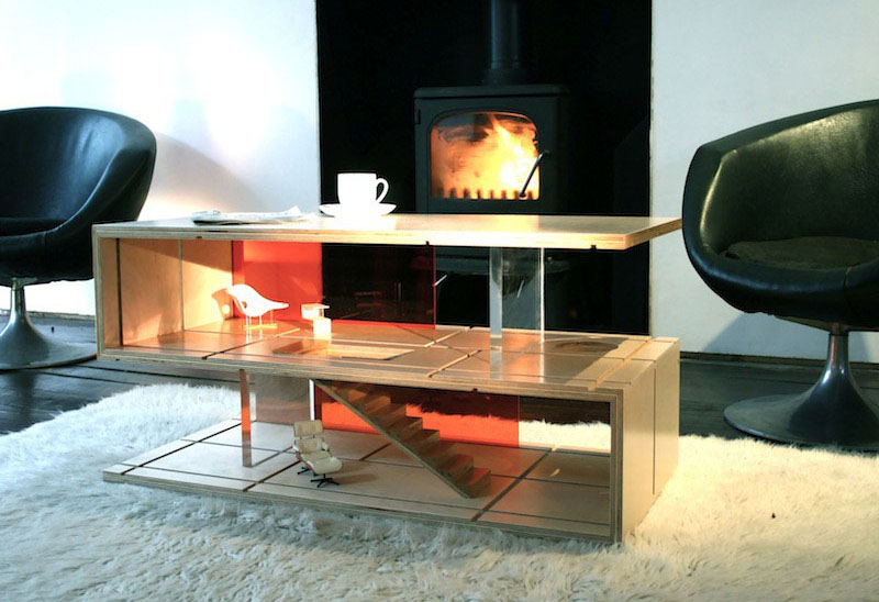 Versatile Coffee Table Design That Transforms into a Doll House .