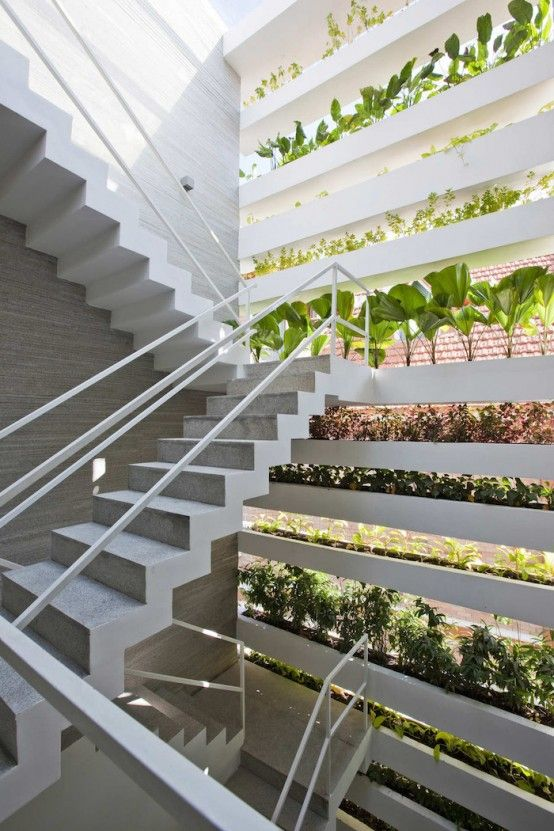 Minimalist Concrete House With A Large Vertical Garden | Green .