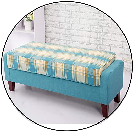 Amazon.com: LYRWISHJD Sofa Stools Bed End Stool Simple Pedal Cloth .