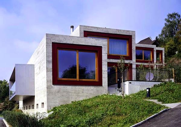 SWITZERLAND LUXURY HOUSE CONCRETE FORTRESS-LIKE DESIGN ARE .