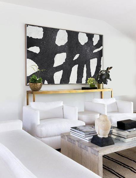 Horizontal Minimal Art #MN1C | Art deco interior design, Home .