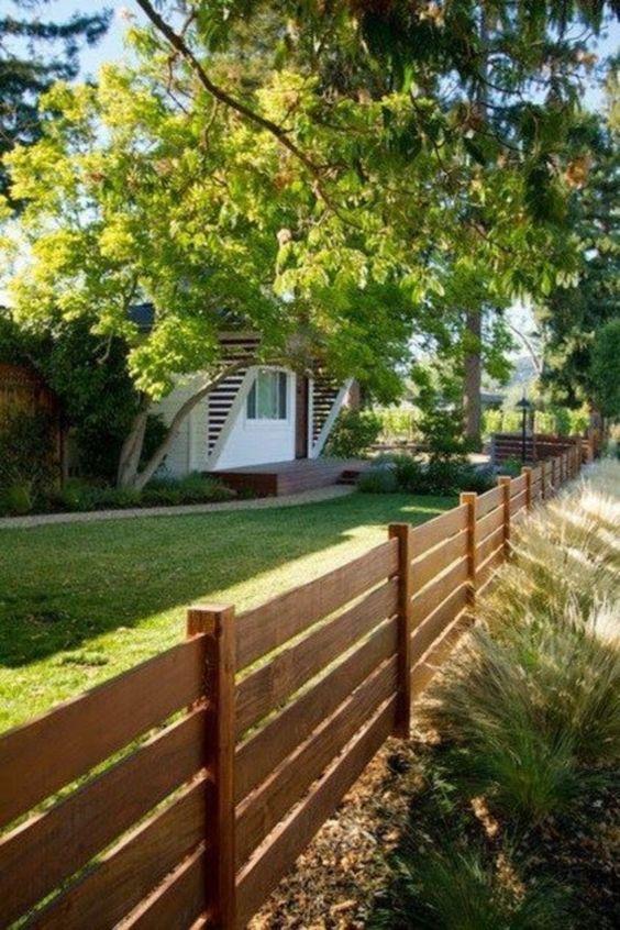 Horizontal Fence Ideas: 20+ Stylish Designs for Minimalist Home .