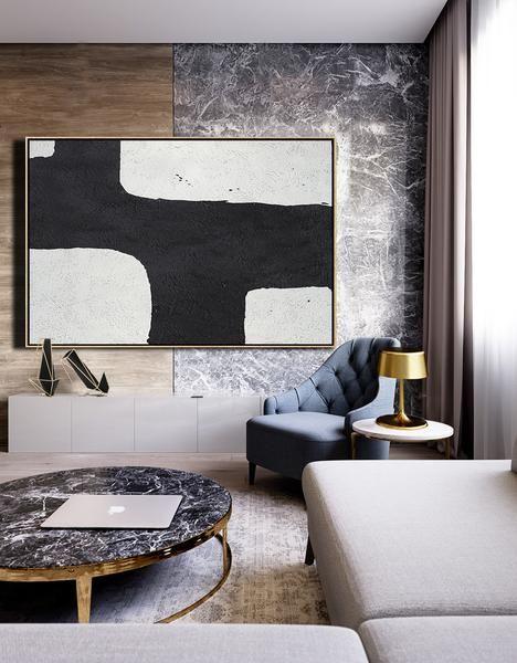 Horizontal Minimal Art #MN2C | Minimalist home interior, Dining .
