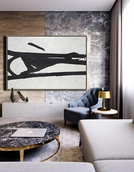 Horizontal Minimal Art #MN49C | Minimalist home interior, Dining .