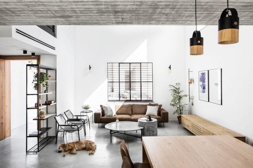 A Modern, Monochromatic House in Nir Am, Isra