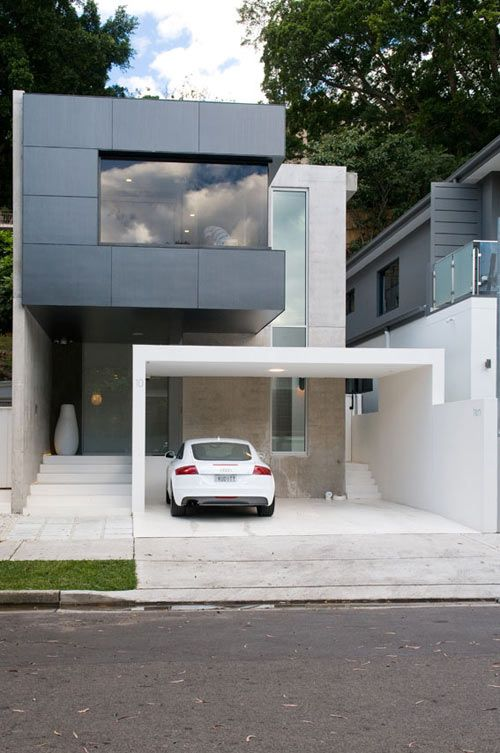 Double Bay House by Level Orange Architects | Fachadas de casas .