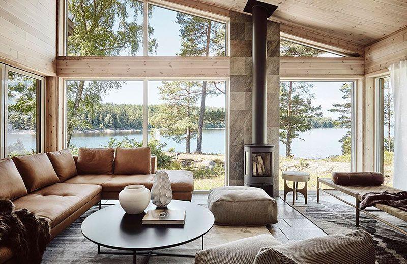 Дом в Швеции: уютная атмосфера с видом на озеро 〛 ◾ Фото ◾Идеи .