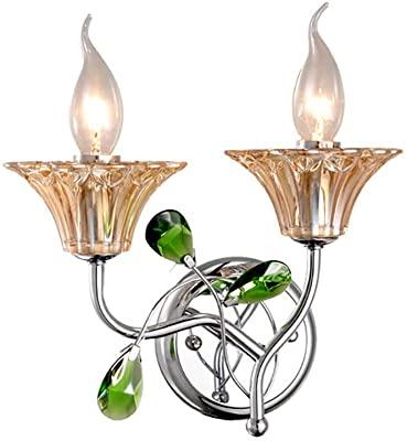 European Minimalist Crystal Wall Lamp Romantic Decoration Candle .