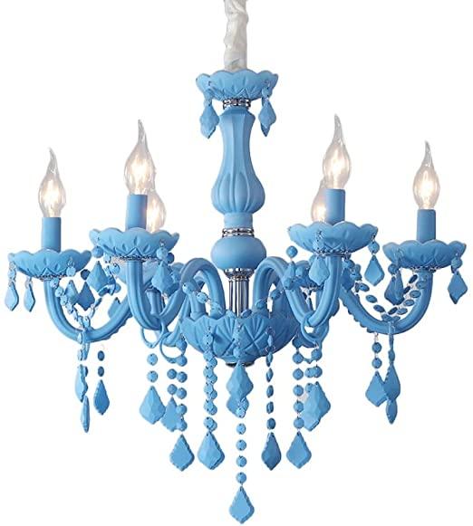 Amazon.com: Huioo Creative Iron Candle Chandelier Modern .