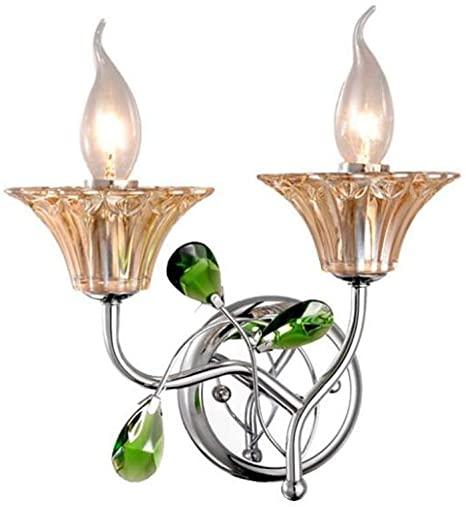 Modern Minimalist Crystal Wall Lamp, European Candle LED Wall .