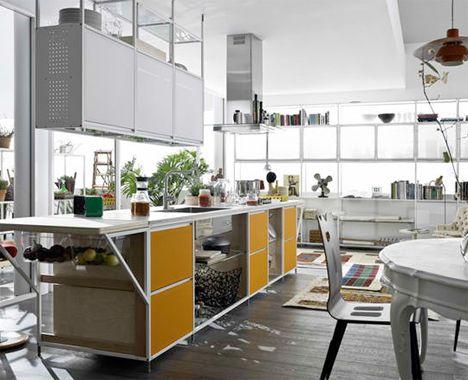 Meccanica: Flexible Open Framework Kitchen Shelves | Contemporary .