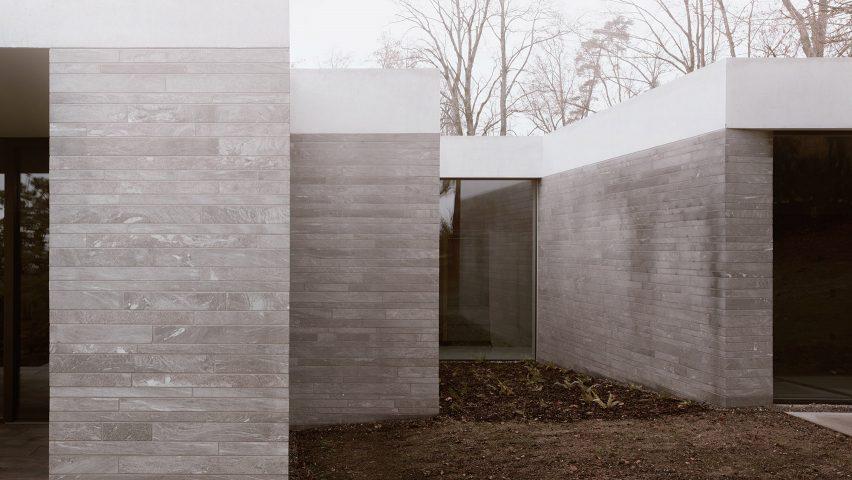 Think Architecture creates minimal hilltop house in Switzerla