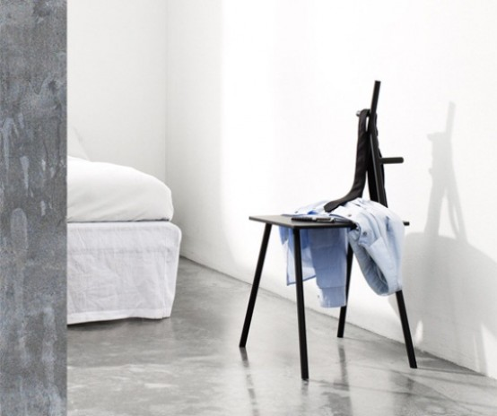 Minimalist Multifunctional Chair Appropriate For Many Spaces .