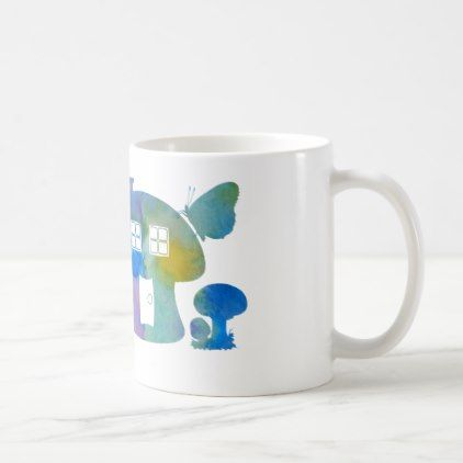 Mushroom House Coffee Mug - minimal gifts style template diy .