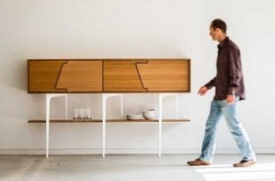 Minimalist Neus Sideboard With Asymmetrical Doors - DigsDi