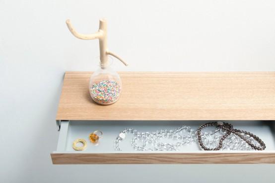 Minimalist Shelf With A Small Hidden Drawer - DigsDi