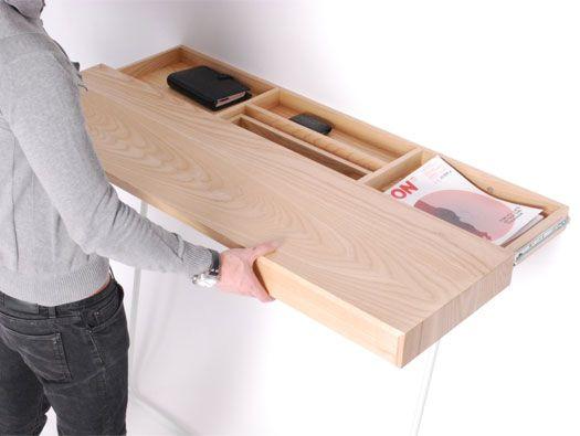 Estante corredizo | Sliding shelves, Hidden storage, Floating .