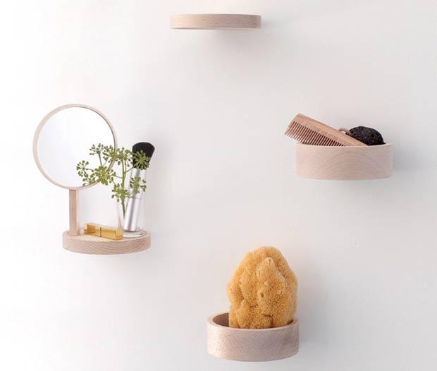 Round Bathroom Mirror With Shelves   Simple Home Decorati
