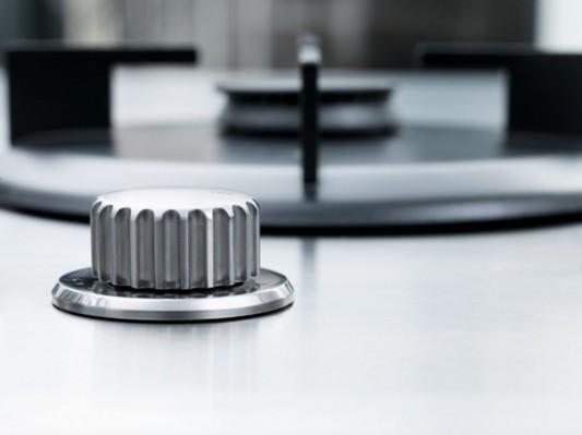 Practical Stainless Steel Kitchen in Modern Minimalist Design by .