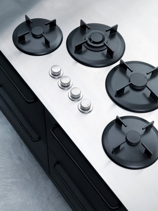 Minimalist Stainless Steel Kitchens by Vipp - DigsDi