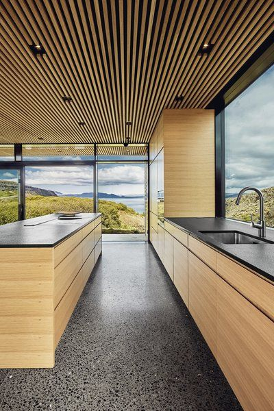 Photo 11 of 13 in A Timber-and-Concrete Summer House in Iceland .
