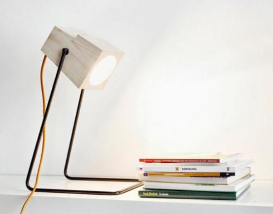 Minimalist 360° Table Lamp Of Natural Wood - DigsDi