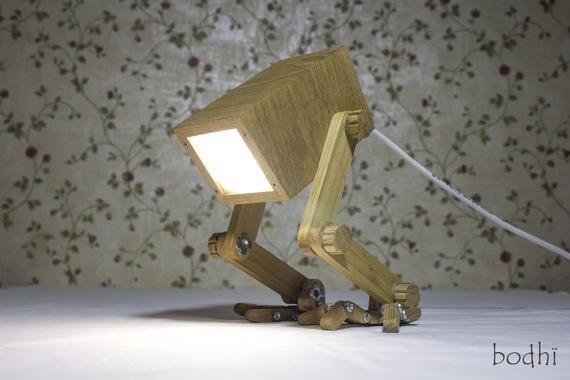 Table Lamp Wooden lamp LED Wooden Handmade Wooden Lamp   Etsy .