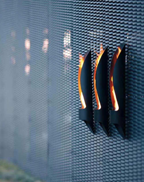 Minimalist Tube Outdoor Bioethanol Fireplace - DigsDi