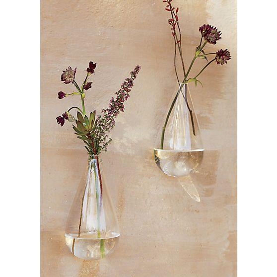 wall mounted teardrop vase   Glass wall vase, Glass vase decor .