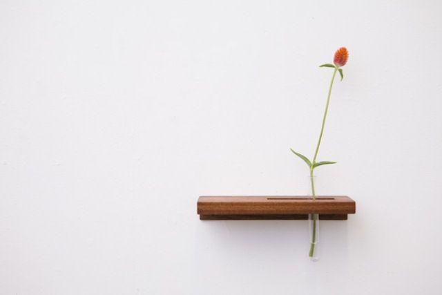 Minimalist Tube Wall Shelves And Flower Vases In One   Flower .