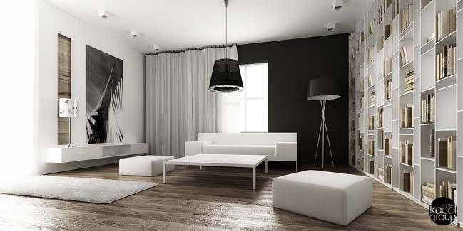 Black and white minimalist house in Pola
