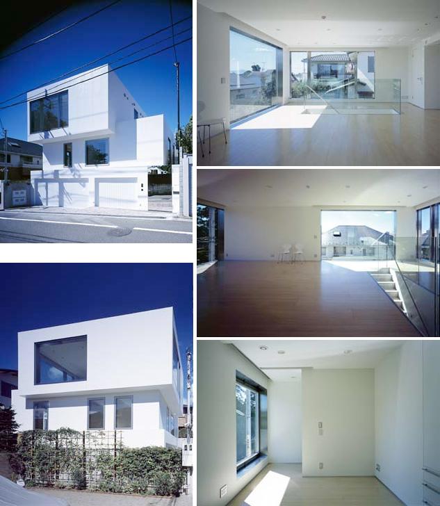 Modern White Minimalistic House Design in Todoroki - DigsDi