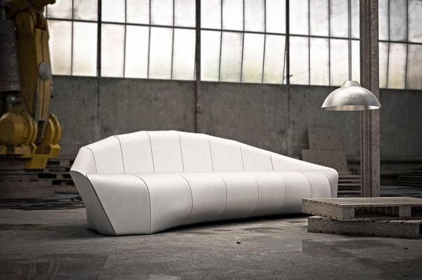 A Sofa Modeled After Ferdinand von Zeppelin's Airship | Modern .