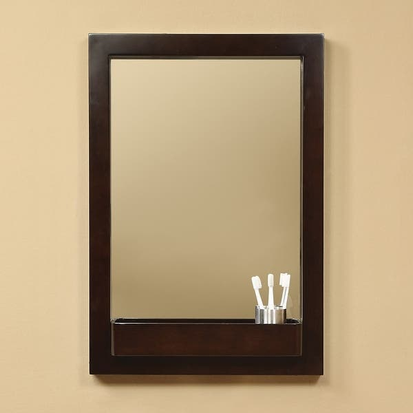 """Shop DecoLav 9745 22"""" Solid Wood Mirror with Integrated Storage ."""