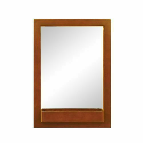 """DecoLav 9745-CW 22"""" Solid Wood Mirror with Integrated Storage ."""