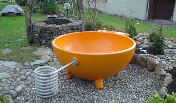 Have Wood Burning Spa Will Travel | Diy hot tub, Portable hot tub .