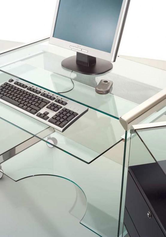 Mobile Glass Workstation - Movie Office by Gallotti&Radice - DigsDi