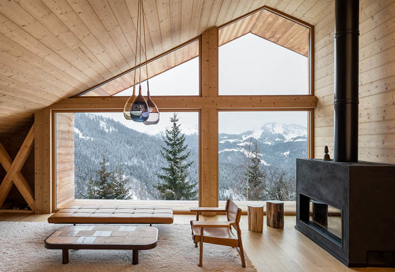 Alps Chalet That Mimics Traditional Mountain Homes - DigsDi