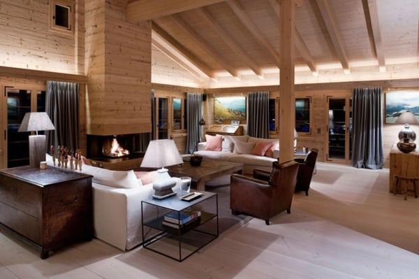 Contemporary yet cozy weekend hideaway in Swiss Alps: Chalet Gsta