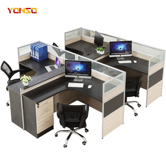 China Factory Modern Office Workstation Cubicle Design for 4 .