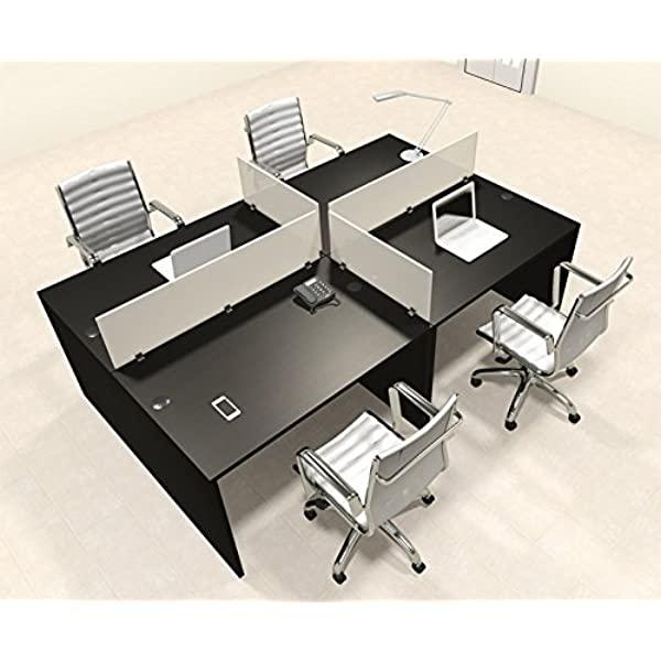 Amazon.com : Four Persons Modern Office Divider Workstation Desk .