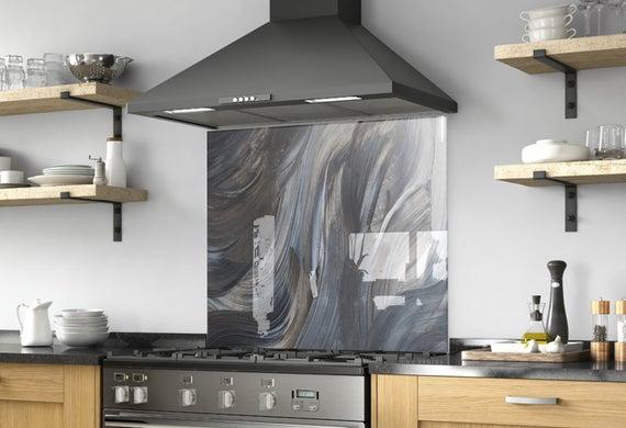 Kitchen Wall Decor Modern Kitchen Backsplash Mural Solid | Et