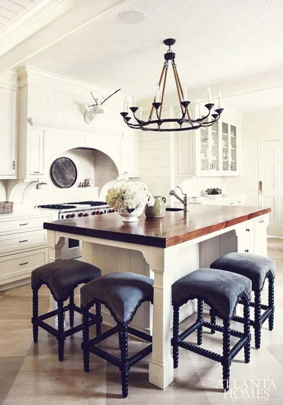 26 Modern And Smart Kitchen Island Seating Options - DigsDi