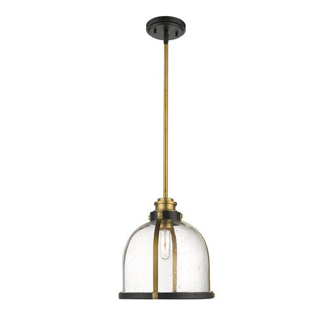 Straps and Bolts Seeded Pendant - Large | Glass pendant light .